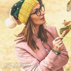 Hold me tight! Pikantna Musztarda, jesień, zima, czapka, ocieplana