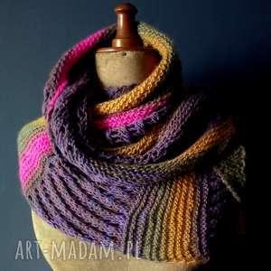 hand-made szaliki duża asymetryczna chusta