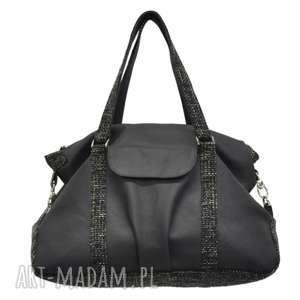 2dfa2bfe388a1 na ramię ręcznie robione 07-0005 Granatowa torebka sportowa / torba fitness  PIGEON