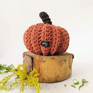handmade dekoracje dynia halloween ruda duża