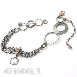 chain it - bransoletka, srebro, oksydowane, pozłacane, miedź, cyrkonie, łańcuszki