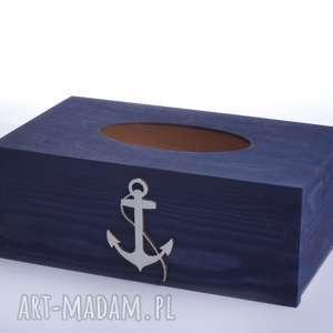 Prezent Chustecznik - pudełko na chusteczki Nautical, chustecznik, kotwica, nautical