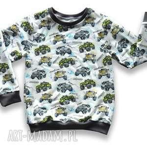 samochody całoroczna bluza dziecięca, bawełniana z dresówki, rozmiary 68