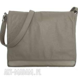 35-0005 beżowa torebka aktówka damska do szkoły i na studia robin, teczki-damskie