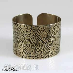 Liście - mosiężna bransoleta 171028 -01 caltha bransoletka