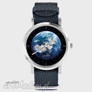 Prezent Zegarek, bransoletka - Ziemia grafitowy, zegarek, nato, pasek, ziemia