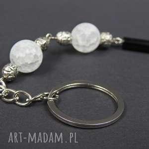 breloki 0126/ brelok do kluczy kamień onyks i kryształ, brelok, przywieszka