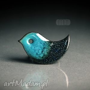 handmade broszki ptaszek burzowy