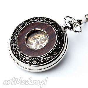 handmade zegarki elegancja w drewnie iii (silver)