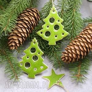 ręcznie wykonane pomysł na świąteczny upominek choinki zestaw