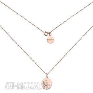 sotho medalion z różowego złota body n°4 - pozłacany