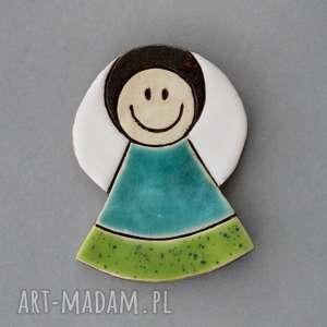 ręcznie wykonane magnesy aniołek-magnes ceramiczny