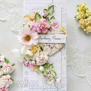 kartka dla mamy - prezent dla mamy, róże, kwiaty
