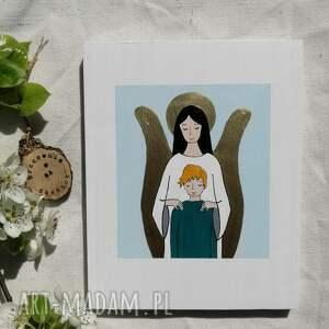 anioł stróż dla chłopca komunia święta no 2, stróż, pamiątka komunijna