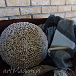 Okrągła poduszka ze sznurka bawełnianego, poduszka, sznurek, szydełko, manufaktura
