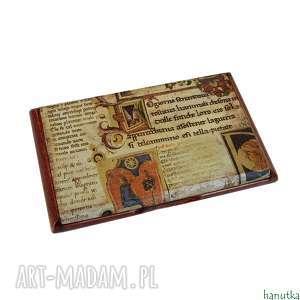 ręcznie robione etui manuskrypt - wizytownik, na karty płatnicze