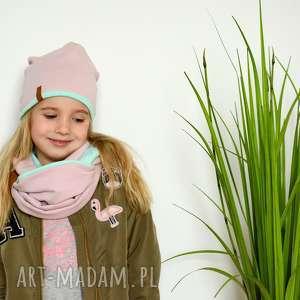hand-made ubranka komplet różówo-miętowy