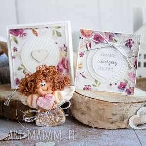 anioł nieustającej radości personalizowana mini kartka, pudełeczko