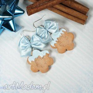 prezenty świąteczne kolczyki ciastka śnieżynka na prezent