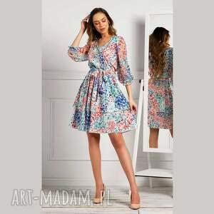 sukienki sukienka wendy mini anabelle, z printem, kwiatowy wzór