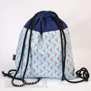 Flamingi, plecak, worek, flamingi, flaming, leming