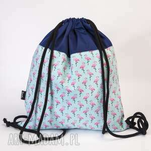 flamingi, plecak, worek, flaming, leming