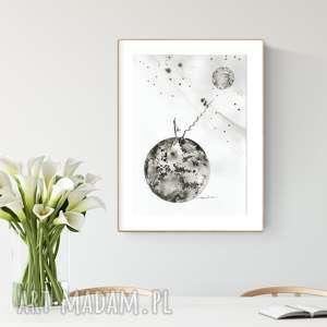 grafika 30x40 cm wykonana ręcznie,abstrakcja, elegancki minimalizm, obraz do salonu