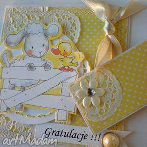 dla dziecka kartka z owieczką, dziecko, narodziny, gratulacje, słodkie
