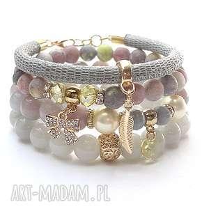 pastelove /23-06-17/ - set, jadeity, jaspisy, skóra, rzemień, cyrkonie, perły
