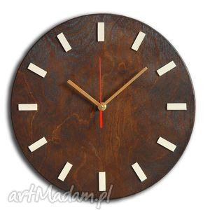 Bezgłośny scandi clock - zegar drewniany 30 cm, wenge zegary