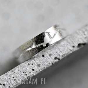 925 Pierścionek ze srebra SILHOUETTE, ptaki, srebro, 925, pierścień, natura, ptak