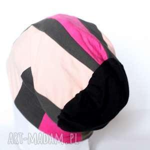czapka ciepła patchworkowa damska, czapka, patchwork, etno, ciepłą, sport
