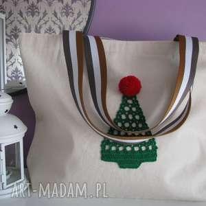 dobrzykowska torba bawełniana, ecotorba, z choinką, torbaeco, bag