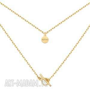 sotho złoty masywny łańcuszek z ozdobnym zapięciem
