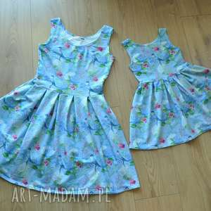 hand-made sukienki komplet sukienek zuza dla mamy i córki