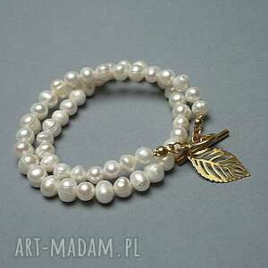 pearls /white/ perły naturalne vol 3 - choker, naturalne, toggle, ki ka