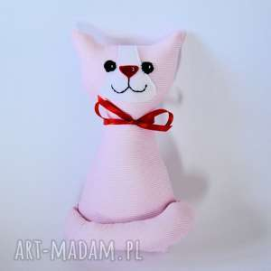 kotek miau - różyczka 25 cm - rezerwacja, kot, kicia, różowy, maskotka, zabawka