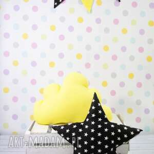 Prezent Poduszka w kształcie gwiazdy CZARNA, poduszka, dziecko, prezent, gwiazda