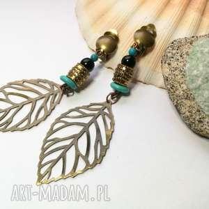 hand-made klipsy wiszące etno boho handmade