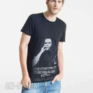 koszulki bukowski portrait t-shirt męski, męski ubrania