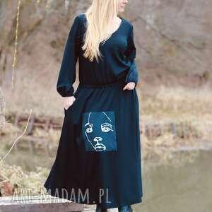 pod choinkę prezent, czarna sukienka, maxi boho etno