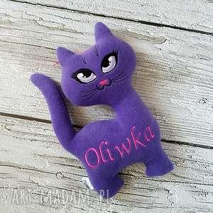 personalizowany kotek - przytulanka, kot, haft, imię, polar, maskotka, personalizacja