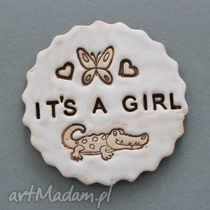 its a girl-magnes ceramiczny, narodziny, oczekiwanie, córka, baby, party, ciąża