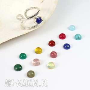 minimalistyczny pierścionek z lapisem lazuli - otwarty, lapis