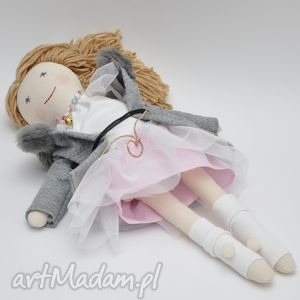 lisa w różanym płaszczyk czapeczka - lalka, szmaciana, prezent