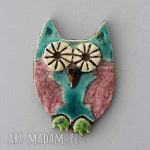 broszki sowa - broszka ceramiczna, nauczyciel, minimalizm, design, podziękowanie
