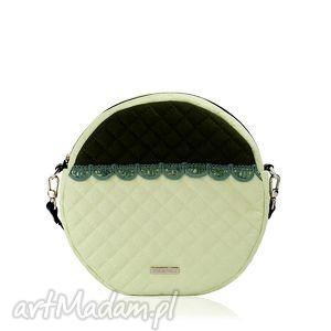 torebka pikowana okrągła veska 599, veska, okrąg, falbanka torebki