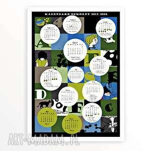 kalendarz szkolny 2015 2016 - kalendarz, szkoła, dzecko, 2015, 2016, plakat