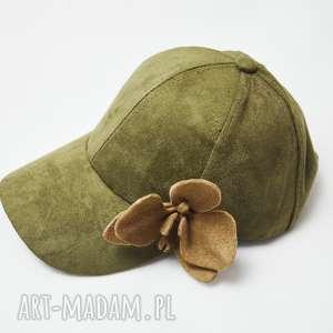 czapka khaki - czapka, khaki, storczyk