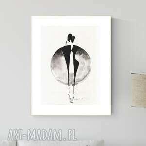 grafika 30x40 cm wykonana ręcznie, abstrakcja, obraz do salonu, 2792949